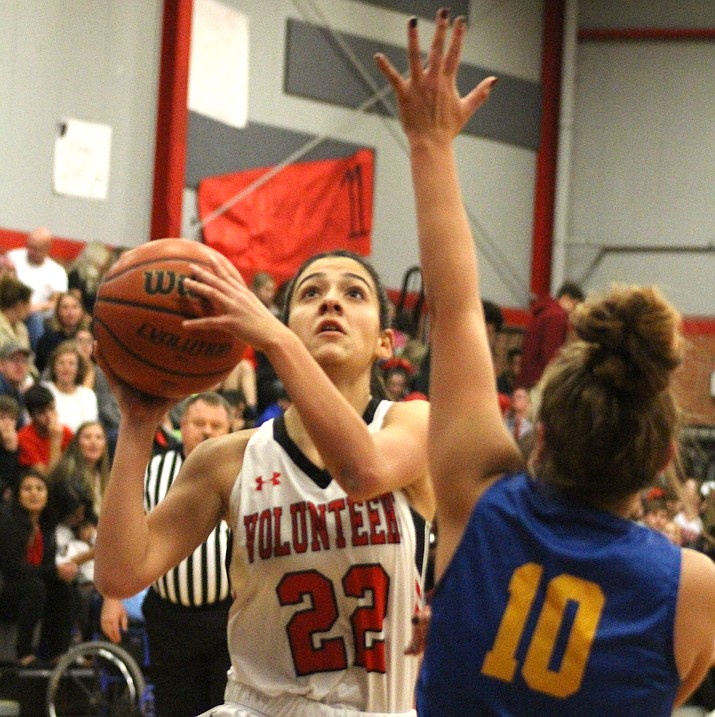 Savannah Jimenez scored a game-high 14 points Tuesday in Lee Williams' 41-29 win over Kingman. (Photo by Beau Bearden/Kingman Miner)