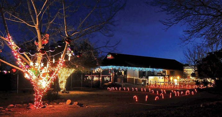 Christmas lights illuminate the Heritage Park Zoo Wednesday night in Prescott.  The second annual Wild Lights and Animal Sights at the Heritage Park Zoo takes place Friday and Saturday through Jan. 2, 2010.