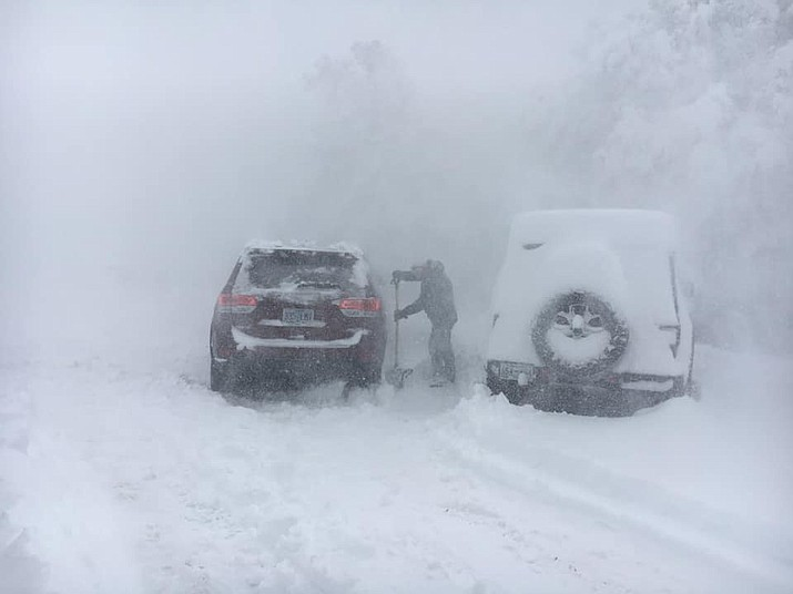 Blizzard conditions reported this morning at Grand Canyon National Park. (NPS/photo)