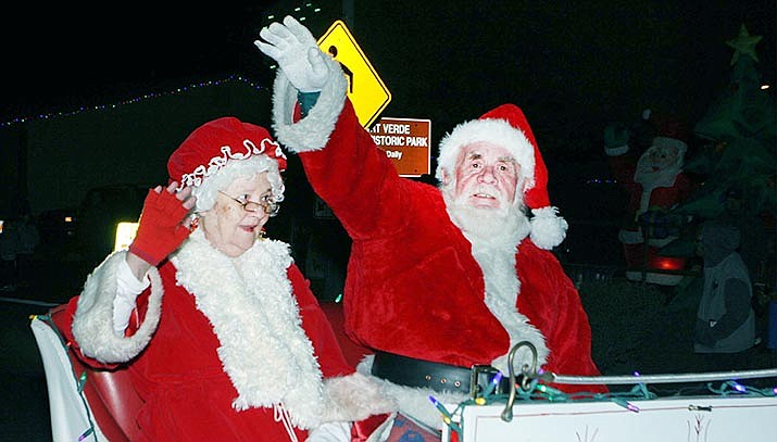 Each year, Santa and Mrs. Claus bring up the rear in the annual Parade of Lights down Main Street of Camp Verde. The Dec. 14 parade is one of several fun Christmas events set to take place this month in the town. VVN file/Bill Helm
