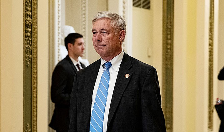 In this Oct. 4, 2019 file photo, Rep. Fred Upton, R-Mich., is seen at the U.S. Capitol in Washington. (Anna Moneymaker/Pool via AP)