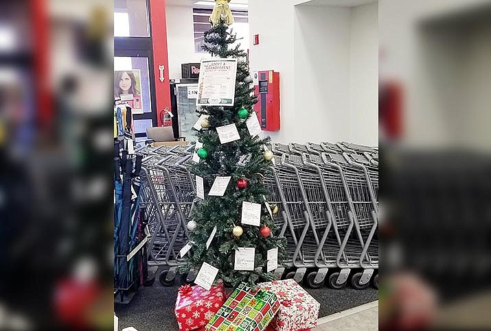 From Dec. 2 until Dec. 19, Angels Care Home Health will have trees in Cottonwood, Camp Verde, Village of Oak Creek and Sedona for its annual Adopt-a-Grandparent program. Photo courtesy Connie Lynn