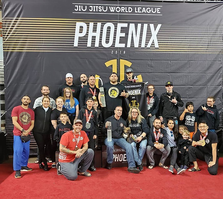 Kingman's Carlson Gracie gym recently took first place at the Jiu-Jitsu World League in Phoenix. (Courtesy photo)