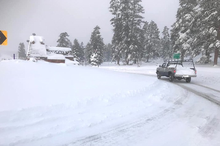 Grand Canyon and Tusayan were without power Friday following a snowstorm. (Town of Tusayan/photo)