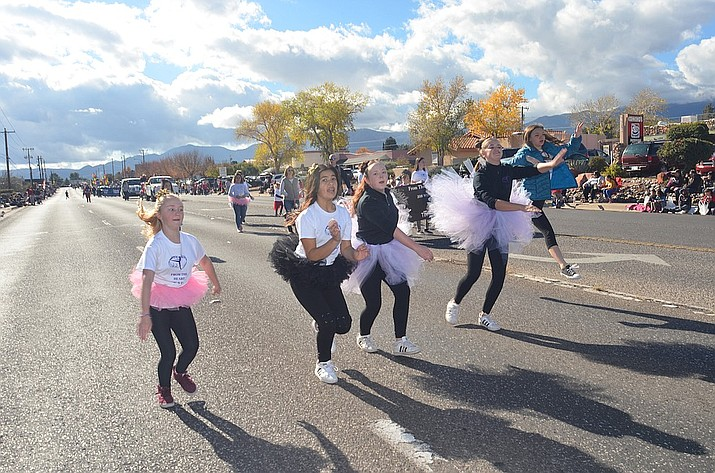 Dancers are commonly part of the Cottonwood Christmas Parade. The 65th annual event is set for Saturday, Dec. 7, starting at 11 a.m. and running from the Verde Valley Fairgrounds, east of Cherry Street and north on Main Street toward Old Town. VVN file/Vyto Starinskas