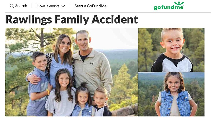 "A GoFundMe page has been created for the ""Rawlings Family Accident."" (GoFundMe)"