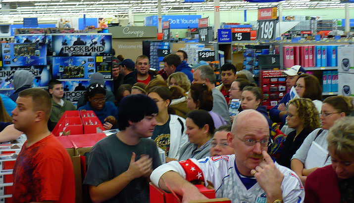 Despite competition from other shopping options, experts say as many as 115 million people are considering shopping this year on Black Friday, the day after Thanksgiving. (Photo by Laurie)