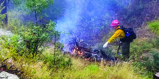 Fire managers on the Bradshaw Ranger District plan to continue taking advantage of favorable conditions to continue burning piles at various locations in the Prescott Basin Dec. 2 through Friday, Dec. 6. (Courtesy)