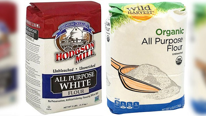 "Hodgson Mill is recalling five-pound bags of ""Unbleached All-Purpose White Wheat Flour"" after the potential presence of E. coli was found in samples of the flour. (Courtesy)"