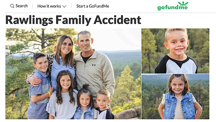 "A GoFundMe page has been created for the ""Rawlings Family Accident."" (GoFundMe photo)"