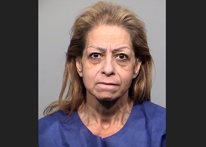 Patricia Villa, 55, was arrested after allegedly causing a five-vehicle crash at the intersection of Highway 69 and Navajo Dr. Wednesday, Nov. 27. (YCSO/courtesy)