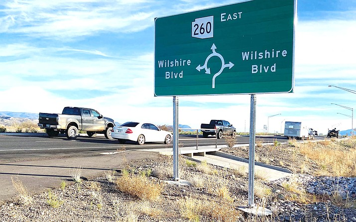 Wednesday, the Camp Verde Town Council will consider changing the name of Wilshire Boulevard at the roundabout's southern turn to Moonrise Drive, as well as the name of the roundabout's northern turn to Dreamcatcher Drive. VVN/Bill Helm