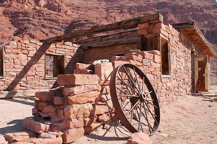 Historic buildings can be seen at Lees Ferry, Arizona. The National Park Service is inviting the public to a an Old West Christmas at Lees Ferry Dec. 12. (Photo/NPS)