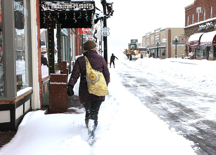 A Thanksgiving holiday storm rolled through Williams and other parts of northern Arizona Nov. 29. Powerful wind, rain and snow wreaked havoc as several portions of major highways were closed and some residents and businesses were without power. (Wendy Howell/WGCN)