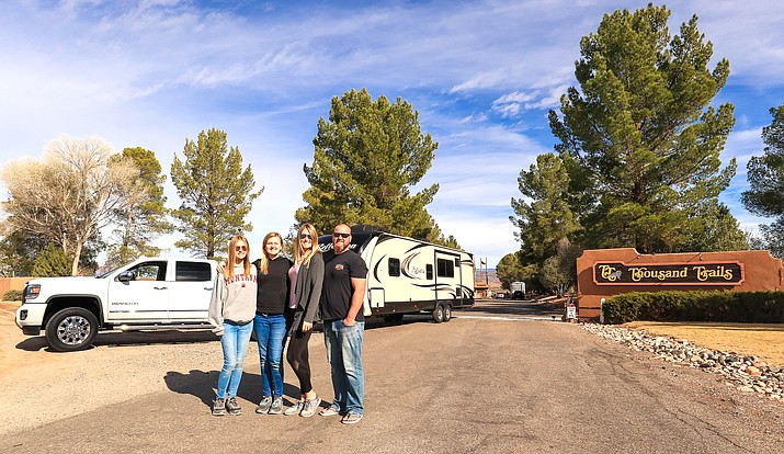 "Jessie and Corey Nickerson and their daughters, Lily, 14, and Leila, 12, say traveling around the United States is ""a lifestyle we absolutely love and we are gaining experiences we never imagined."" Courtesy photo"