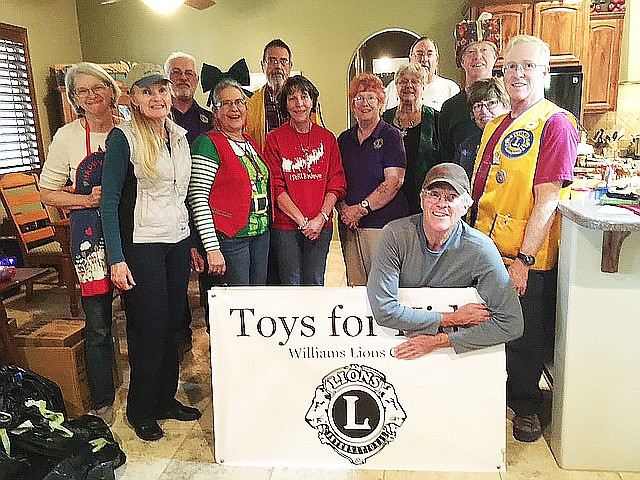 In 2016, the Toys For Kids Project provided toys and gifts to 198 children in the Williams area. (Photo/Williams Lions Club)