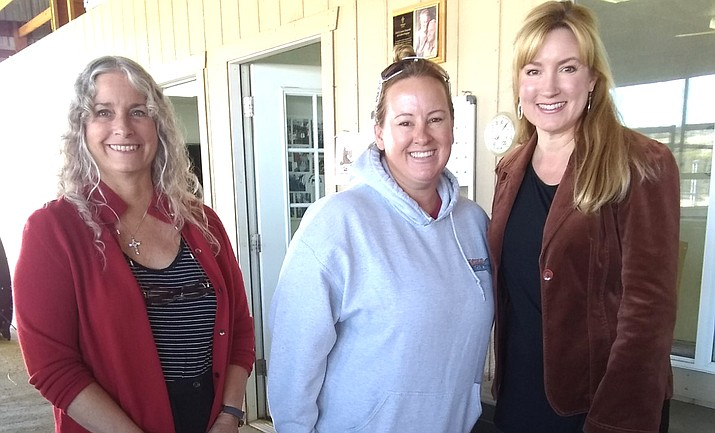 Milissa Koel and Michelle Conway from VVL Class XIV with Lisa Page (center) of Rainbow Acres. VVL courtesy photo