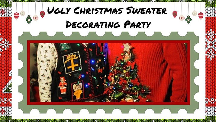 An Ugly Christmas Sweater Decorating Party is taking place at the Prescott Public Library, 215 E. Goodwin St. from 2 to 3:30 p.m. on Saturday, Dec. 7. (Prescott Public Library)
