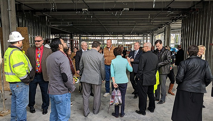 State Supreme Court Chief Justice Robert Brutinel joined local officials on a tour of the Mohave County Courthouse addition project on Tuesday, Dec. 3. The project is 50% complete, and ahead of schedule. (Mohave County courtesy photo)