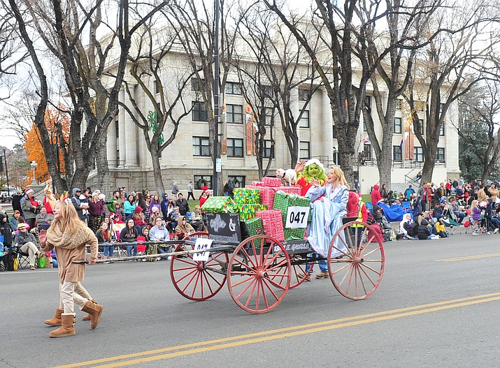 Come see more than 90 entries in the annual Prescott Chamber Christmas Parade. The parade kicks off at 1 p.m. on Saturday, Dec. 7, 2019 in downtown Prescott.. (Courier file)