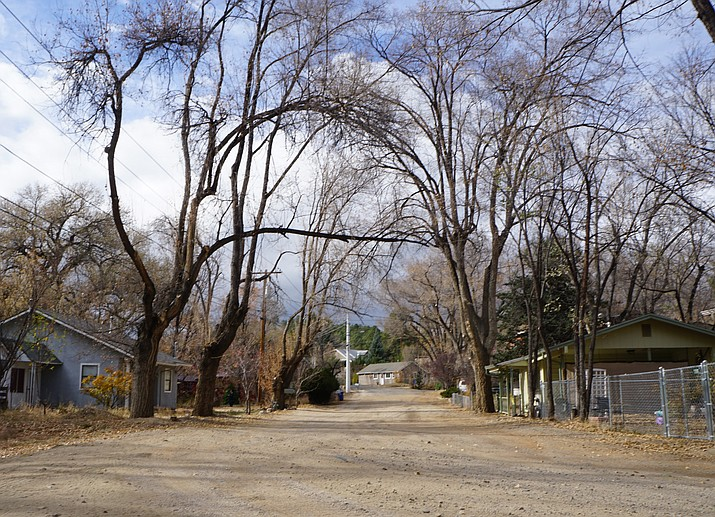 Hope Street, a dirt street located just off White Spar Road in southwest Prescott, is in line for a major road-improvement project in the coming months. Neighbors have voiced worries that the project would change the rural character of the street. (Cindy Barks/Courier)