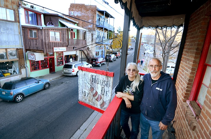 Chuck and Mimi Romberger plan to keep the building looking consistent with Jerome's historic appearance. VVN/Vyto Starinskas