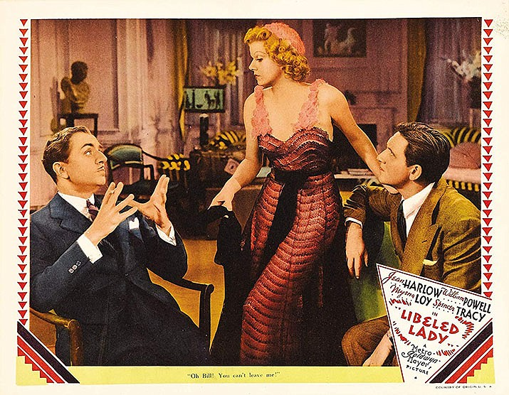 """""""Libeled Lady,"""" filmed in 1936 and starring Jean Harlow, will be shown at 6 p.m. Friday, Dec. 6 at the Kathryn Heidenreich Adult Center at 1776 Airway Ave., Kingman. (IMDb photo)"""