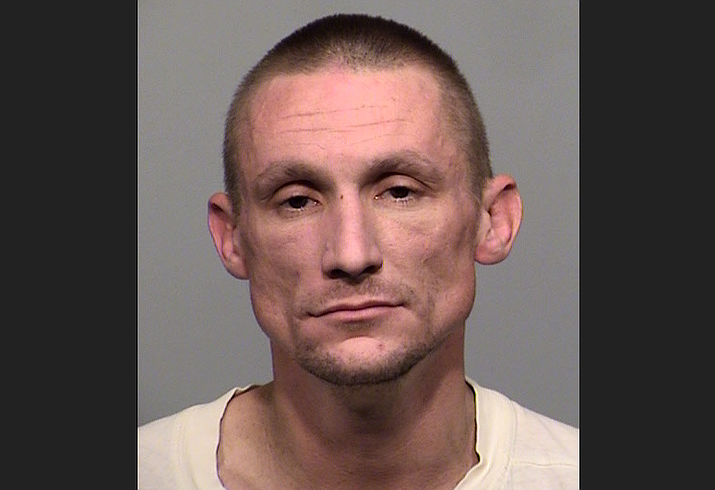 Dennis Steven Harvel Jr., 32, of Phoenix was arrested in Prescott Valley after allegedly burglarizing a home Thursday, Dec. 5, 2019. (PVPD/Courtesy)
