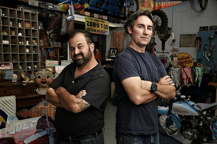 """Frank Fritz (left) and Mike Wolfe star in the popular documentary series that explores the world of antique """"picking"""" on the History television network. The show will be filming at select locations in Arizona in February 2020. (Cineflix/Courtesy)"""