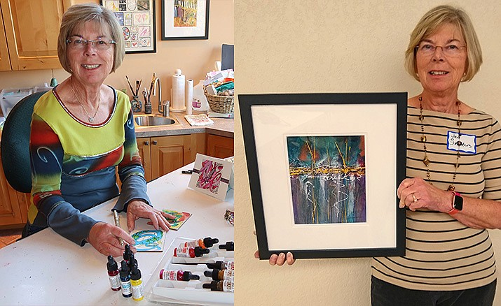 Jan Saunders is an eclectic artist who enjoys working in acrylics, calligraphy, collage, and the paper arts. Currently, her favorite projects are those that incorporate techniques from multiple art forms.