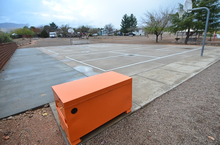 The new pickleball courts at Centerville Park in Clarkdale are inaccessible at this time, according to the town, due to recent theft of equipment. VVN/Vyto Starinskas.