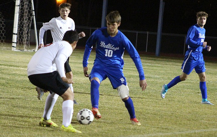 Kingman junior Alex Romero (10) tallied a goal in Thursday's 9-1 win at River Valley. (Miner file photo)
