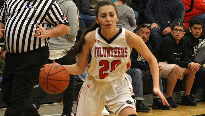 Hayle Davis and the Lady Vols won three straight games Friday during pool play at the River Valley Shootout. (Miner file photo)