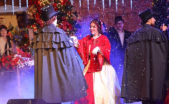 "The cast performs during the EF Production's 25th annual Celebration of Christmas on Saturday with their annual opening of ""Twelve Days of Christmas"" with audience participation. VVN/Vyto Starinskas"