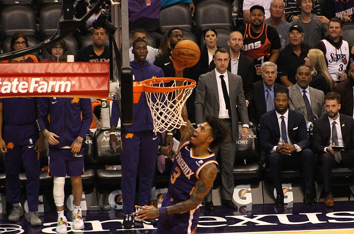 Kelly Oubre Jr. notched 24 points Monday night to help the Phoenix Suns top the Minnesota Timberwolves 125-109. (Miner file photo)