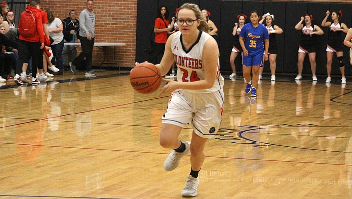 Liberty Cronk tallied a team-high 11 points Saturday in a 47-32 loss to Pahrump, Nevada in the championship game of the River Valley Shootout. (Miner file photo)