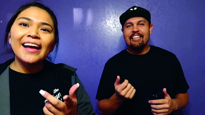"""Navajo Vloggers Natalie Franklin and Michael Balcerek collaborate for a vlog titled """"Native YouTubers"""" March 2, 2019. The video has more than 12,000 views. (Submitted photo)"""
