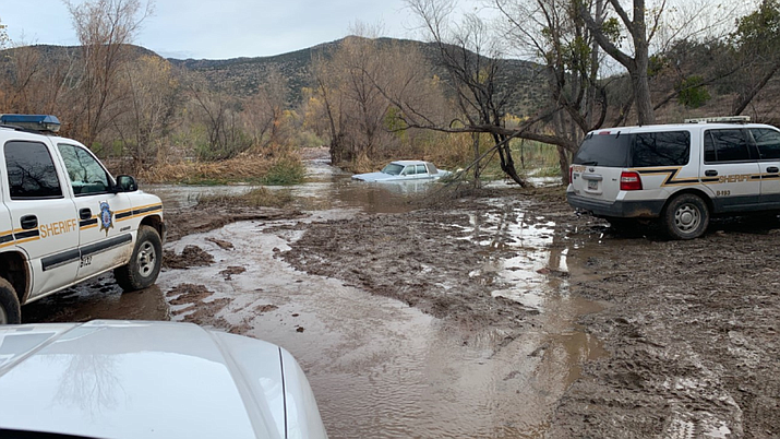 Search and Rescue located Petitte's body approximately 200 yards downstream from where his truck was swept away in Tonto Creek. (Photo courtesy of Gila County Sheriff's Office)