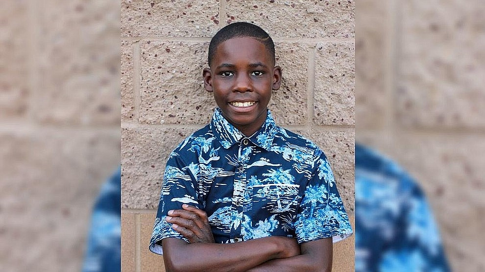 """If you ask Tirahji what he wishes for you will be inspired by his answers. He wants to be a good person and get an education. Plus, he dreams of playing football and someday going pro. While he pursues those dreams, Tirahji is enjoying his time in school. He loves """"everything"""" about it, including math, writing and reading. Get to know him at https://www.childrensheartgallery.org/profile/tirahji and other adoptable children at the childrensheartgallery.org."""