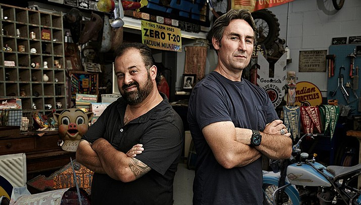 Frank Fritz, left, and Mike Wolfe of American Pickers will film in Arizona in February, 2020. (Courtesy)