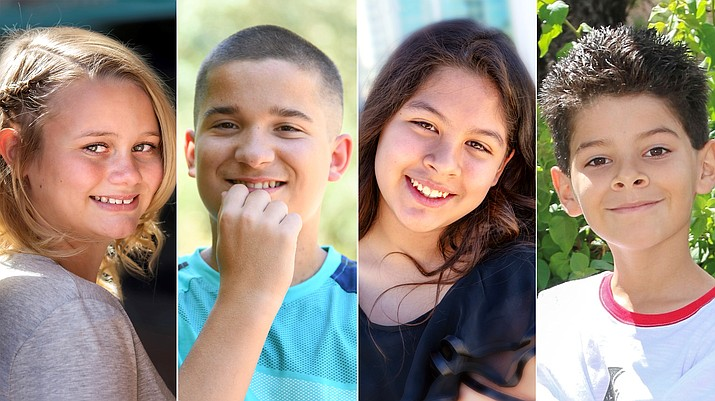 Kennedy, Casey, Heather and Isaiah are among 31 children waiting for adoption in Arizona. Learn more about them and other children up for adoption with the Arizona Department of Child Safety by visiting childrensheartgallery.org. (DCS)