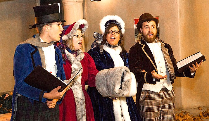 The Dickens carolers will be strolling the arts village from 3 to 7 pm. Photo by Wib Middleton.