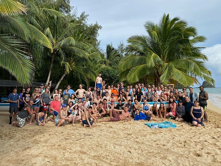 On a beach in Honolulu.(PHS Band/Courtesy photos; more photos and videos can be viewed on the Prescott Unified School District Facebook page)