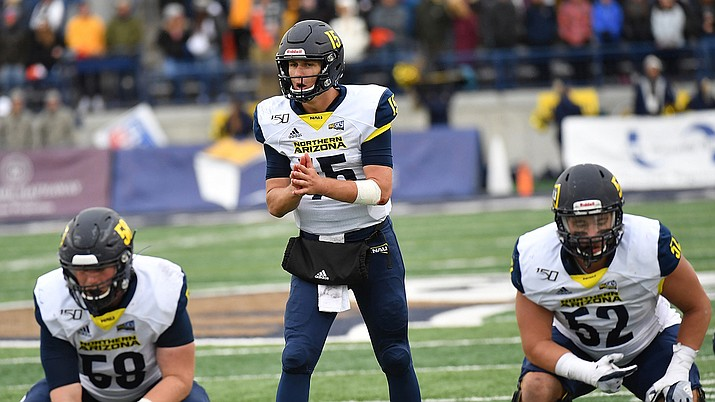 NAU senior Case Cookus has been named one of the four finalists for the FCS's most outstanding offensive player award. Photo courtesy NAU.