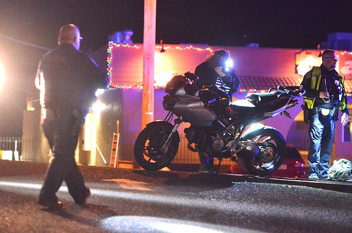 A pedestrian was transported to a hospital in serious condition after being in an accident with a motorcycle on East State Route 89A Friday at about 6 p.m., according to Cottonwood Police Sergeant Monica Kuhlt, who was at the scene. Two motorcycles were heading westbound near Sears when one struck a pedestrian who was apparently not in a crosswalk, Kuhlt said. Monday, Kuhlt said the patient had been upgraded to stable condition at Flagstaff Medical Center. VVN/Vyto Starinskas