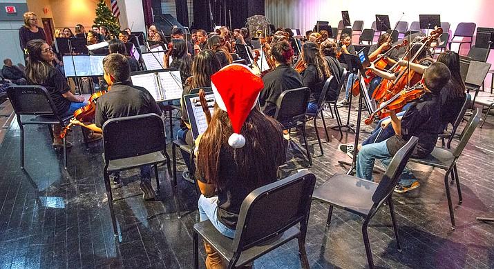 Winslow Jr. High School put on its winter ochestra concert Dec. 12. (Todd Roth/NHO))