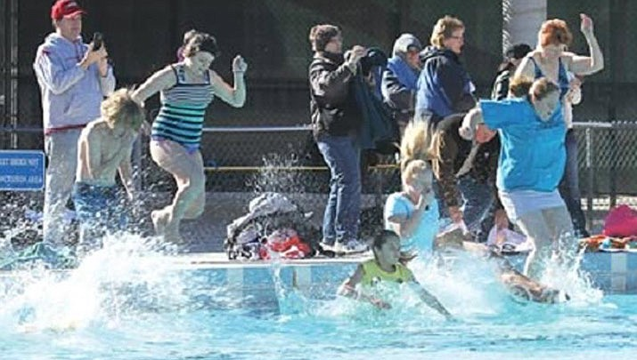 The 19th annual Kingman Polar Dip will be held at the Centennial Swimming Pool, 3333 Harrison St. in Kingman and will take place at 12 p.m. sharp on Wednesday, Jan. 1. (City of Kingman)