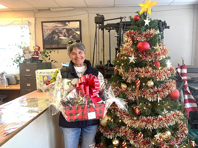 Shelley Wrigley was the winner of the 2019 <em>Williams News</em> Open House raffle. (Connie Hiemenz/NHO)