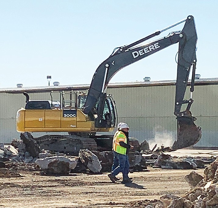 Preparation work is underway at the Prescott Regional Airport in advance of the start of structure work on a new $15 million passenger terminal. The work is expected to begin after the Jan. 7 groundbreaking. (Robin Sobotta, City of Prescott/Courtesy)