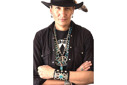 """Klee Benally is a Diné musician, traditional dancer, artist, filmmaker and indigenous anarchist. He released his new acoustic album, """"The Unsustainable Sessions' in November. (Photo courtesy of Klee Benally)"""